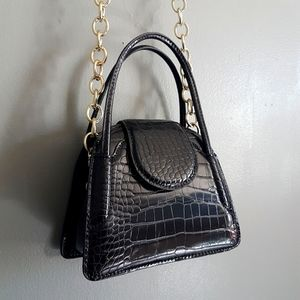 NWOT Zara Faux Leather Mini City Bag